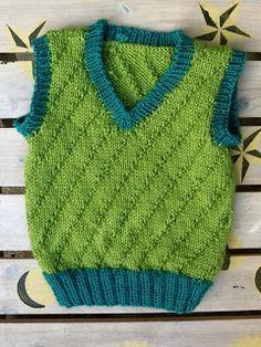 Boy vest knitting pattern