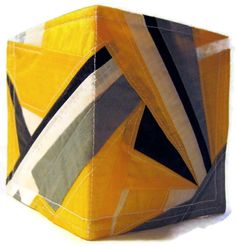 Mens Wallet Recycled Paraglider BiFold Vegan Yellow by OffChutes,