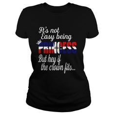Its Not Easy Being A Dominican Princess T-Shirts, Hoodies. GET IT ==► https://www.sunfrog.com/Funny/Its-Not-Easy-Being-A-Dominican-Princess-Black-Ladies.html?id=41382