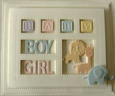Baby Cards Hi crafters! Whether you have little ones around or not, you have to admit tha. Baby Boy Cards, New Baby Cards, Sue Wilson, Baby Frame, Spellbinders Cards, Kids Cards, Making Ideas, Cardmaking, New Baby Products
