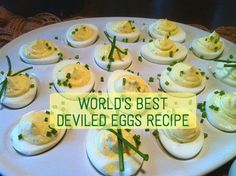 ... deviled egg, plus tell you how you can make the best deviled eggs ever