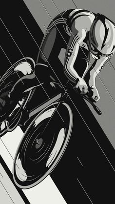 Series of Illustrations Inspired by Track Racing.