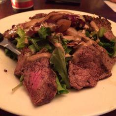 Left a foodprint at Gossip.  Dish: Steak Salad. #foodprint #foodprintapp #followthetaste