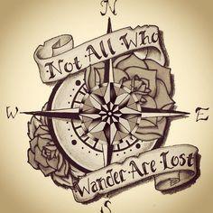 Resultado de imagen para compass tattoo pinterest