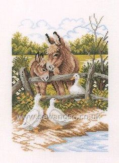 Buy Donkey Talk Cross Stitch Kit Online at www.sewandso.co.uk.  £29.66.