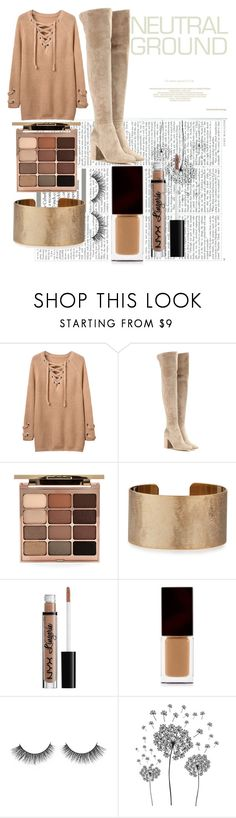 """""""Neutrals"""" by vogue-l0ver ❤ liked on Polyvore featuring Gianvito Rossi, Stila, Panacea, Serge Lutens Beauté and jcp"""