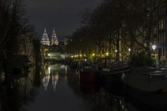 Amsterdam Canal at Calm December Night by T O on 500px