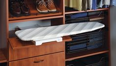 game changer on ironing your clothes. Nice pull out ironing board with easy and keeping your closet clutter free and organized.   Closet and beyond 5601 General Washington Drive Alexanderia, VA 22102  Fairfax  Arlington  Leesburg