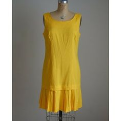 Modern Flapper Dress | 1980s Modern Flapper Dress / Sunflower Yellow dress in Modern Dress ...