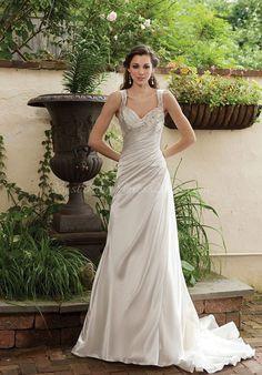 Love silver wedding dresses!