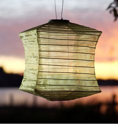 I love the simmer of this Silk Effects Soji lantern from Allsop (allsopgarden.com).