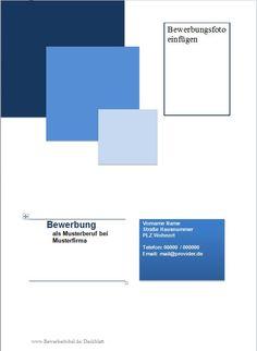 Bewerbung Deckblatt, Vorlage und Beispiel