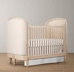RH-Belle Upholstered Crib