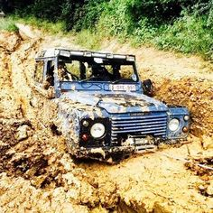Defender and mud