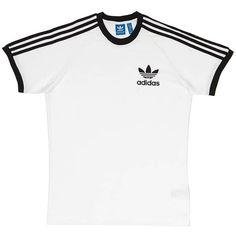 adidas SPO T-Shirt ($30) ❤ liked on Polyvore featuring tops, t-shirts, tees, adidas tee, adidas, white tops, adidas t shirt and white t shirt
