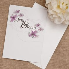 Floral Elegance Wedding Invitation  £2.29  A popular pretty floral design, which looks much better in person, featuring delicate floatin...