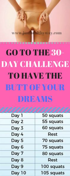 There are 30 days in which you will manage to get your butt to begin to transform, and if you do it to the letter,the only thing you will want in the end ...