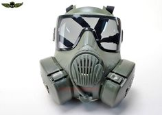 M50-Style Dual Fan Full Face Mask At RSOV.com This would be so cool for some Airsoft loadouts