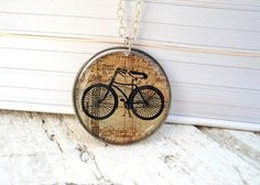Bicycle necklace by Jugosa from Greece