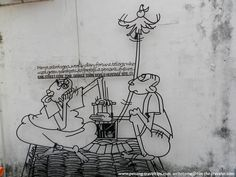 Other than street arts by Ernest Zacharevic, there are also welded iron wall caricatures across the historical Georgetown which define the history of some of the streets and landmarks that are Georgetown icons today. Steel Rod, Iron Wall, Parakeet, Wire Art, Street Art, Sculptures, George Town, Caricatures, History
