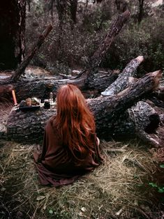 a Witch at her forest altar Lily Evans, Wiccan, Magick, Danielle Victoria, The Ancient Magus, Witch Craft, Season Of The Witch, Samhain, Mabon