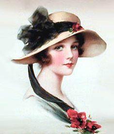 Hat lady http://www.pinterest.com/jenni1951/vintage-ladies-and-girls/