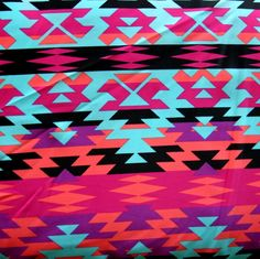 Colorful Tribal Nylon Lycra Swimsuit Fabric - maxi skirt!!