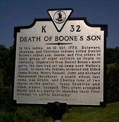 James Boone's grave - Kentucky historic marker - Daniel Boone's son