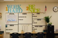 Clutter-Free Classroom: WHITE BOARD FOCUS WALL{Coffee & a Clever Idea}