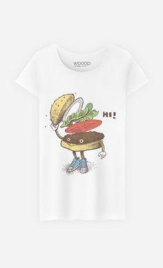 T-Shirt Femme Burger Greeting par Eric Fan - Wooop.fr