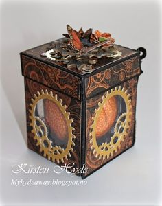 My Craft and Garden Tales: Steampunk gift box with template