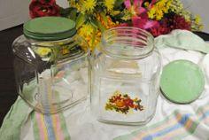 Pair of Vintage Hoosier 1 Gallon Green Lid Canister Jars | eBay
