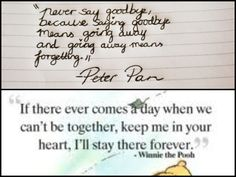 Two Disney quotes I want as tattoo's! -Peter Pan Winni the Pooh! ❤ the second would be a good couple one Disney Tattoos Quotes, Disney Quotes, Tattoo Quotes, Tattoo Disney, Quotes To Live By, Me Quotes, Peter Pan Quotes, Baby Tattoos, Cutest Tattoos