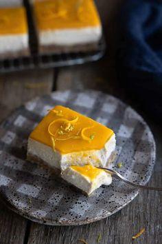 Mango Cheesecake, Coconut Cheesecake, Cheesecake Bars, Cheesecake Recipes, Quick Recipes, Other Recipes, Vegan Recipes, Raw Desserts, Gluten Free Desserts