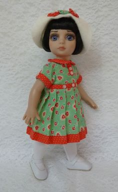 """Happy Hearts Outfit for Patsy 10"""" Tonner Doll & Ann Estelle by Apple"""