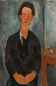 Chaïm Soutine, portrait par modigliani, huile sur toile (91,7 x 59,7 cm), 1917. credit : chester dale collection, national gallery of art, washington d.c.