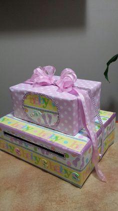 Baby Shower Card Box Baby Girl