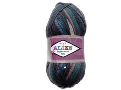 "Superwash Sock Yarn ""Alize"",  Destash yarn, Sock yarn,Wool Yarn Destash, Variegated Sock Yarn, by solviashop. Explore more products on http://solviashop.etsy.com"