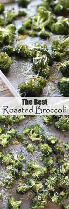 The Best Roasted Broccoli Ever! Oven Roasted Broccoli with Garlic and Parmesan from The Stay At Home Chef