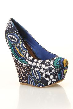 #Bucco Ceres Wedges In Blue.  Wedges #2dayslook #Wedges #fashion #nice #new  www.2dayslook.com