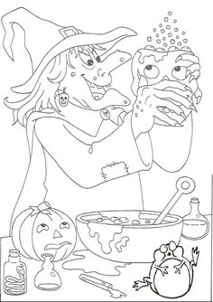 155 Halloween printable coloring pages for kids. Find on coloring-book thousands of coloring pages. Halloween Coloring Pictures, Halloween Coloring Sheets, Printable Adult Coloring Pages, Coloring Book Pages, Halloween Activities, Halloween Crafts, Halloween Embroidery, Colorful Drawings, Coloring Pages For Kids