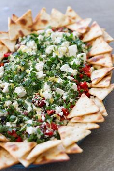 Mediterranean Diet Plan Easy, Healthy, Different Dip Recipe, Perfect for Potlucks: Mediterranean Greek Yogurt Dip, from Lauren's Latest. Mediterranean Dip, Mediterranean Diet Recipes, Mediterranean Appetizers, Appetizer Dips, Appetizer Recipes, Greek Appetizers, Potluck Appetizers, Feta Cheese Recipes, Cold Appetizers