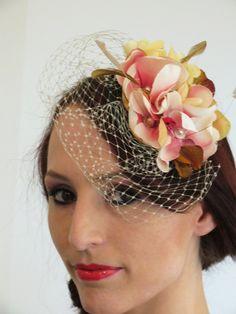 Wedding Flower Hats | Fascinator, wedding hat, flower fascinator, birdcage…