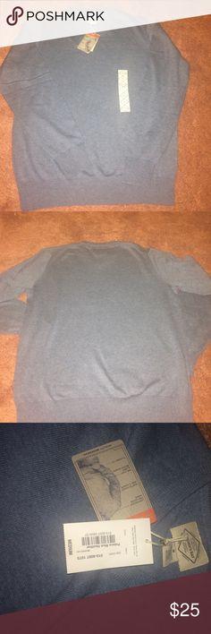 ✨OFFER✨Blue V-neck Men Swearer Blue V-neck sweater. Never worn St. John's Bay Sweaters V-Neck