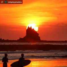 http://OkGranada.com #Follow @vistaplayamadera: Fiery #sunset #PlayaMaderas #SanJuanDelSur #Nicaragua #ILoveGranada #AmoGranada #Travel #CentralAmerica #GranadaNicaragua #bucketlist