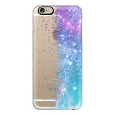 iPhone 6 Plus/6/5/5s/5c Case - Lilac Teal Galaxy Stars Burst (54 AUD) ❤ liked on Polyvore featuring accessories, tech accessories, iphone case, galaxy iphone case, apple iphone cases, slim iphone case and iphone cover case