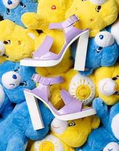 Still Life Product Photography, Stylist Magazine, Fashion accessories, shoes, high heels, care bear, Retro toys