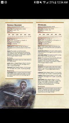Shield Maiden CR3 & Huscarl CR7