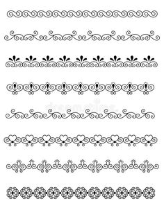 Illustration about Clip art collection of different decorative page dividers / border. Illustration of crafts, assortment, antique - 24936725 Mandala Pattern, Mandala Design, Pattern Art, Pattern Design, Doodle Art Designs, Doodle Patterns, Zentangle Patterns, Mandala Art Lesson, Mandala Drawing