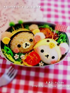 日本人のごはん/お弁当 Japanese meals/Bento. リラックマ弁当。Rilakkuma Bento #food #rilakkuma #bento